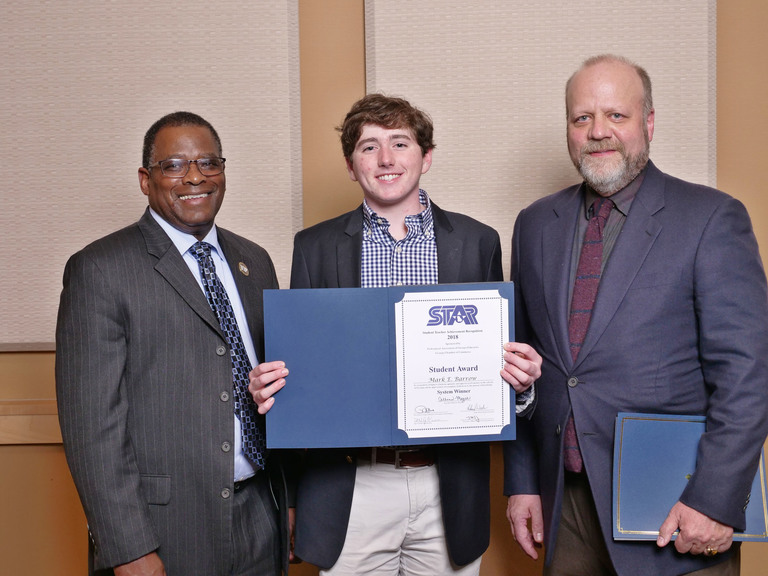 Barrow and Kelley Named 2018 Bibb County STAR Student and Teacher
