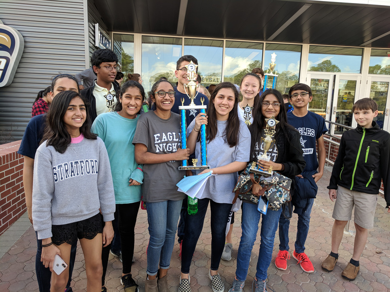 Stratford Middle School Math Team Wins First Place at Georgia Southern University Tournament