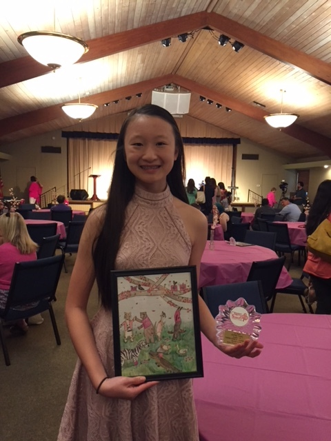 Stratford's Sophia Tang Wins Drawing Competition