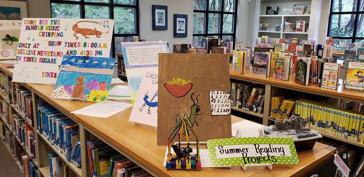 Fourth-Grade Student Summer Reading Creations on Display in Olson Library