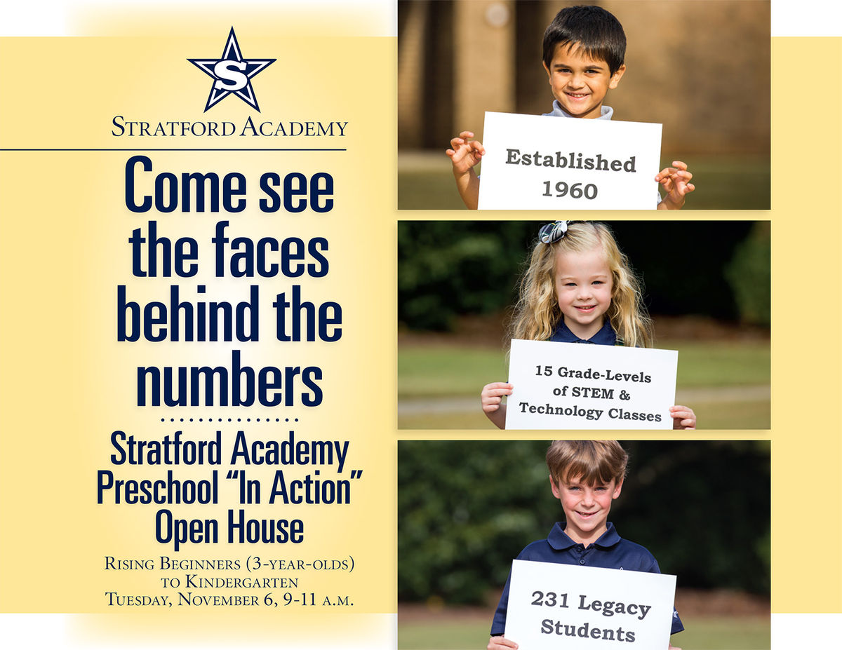 Invite a Friend to Attend Stratford's Preschool In Action Open House on November 6th